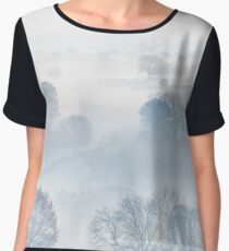 Ethereal Morning Mist Chiffon Top