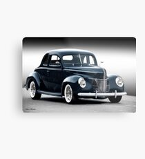 1940 Ford Deluxe Coupe 'Studio' Metal Print