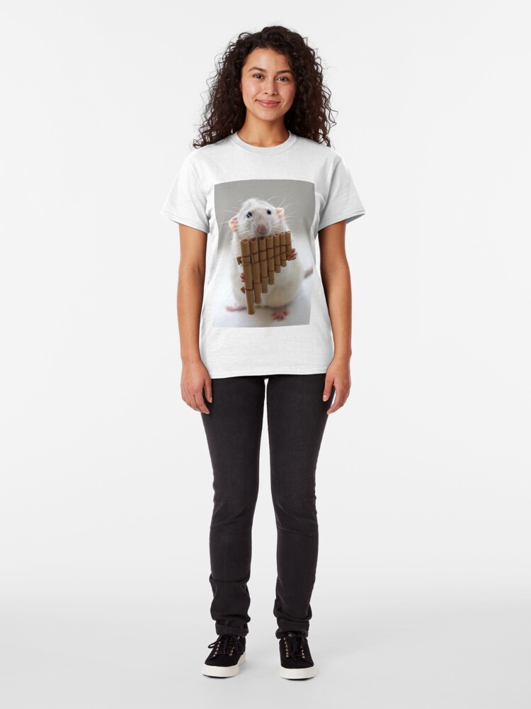 Alternate view of Playing the panflute. Classic T-Shirt