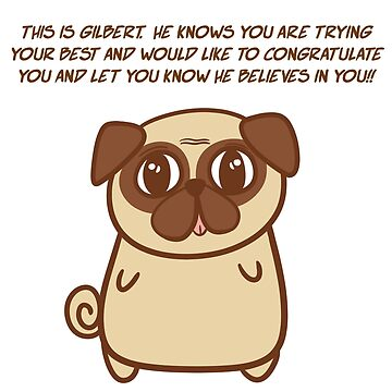 Gilbert the pug by vivienegg