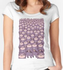 Sloth-tastic! Women's Fitted Scoop T-Shirt