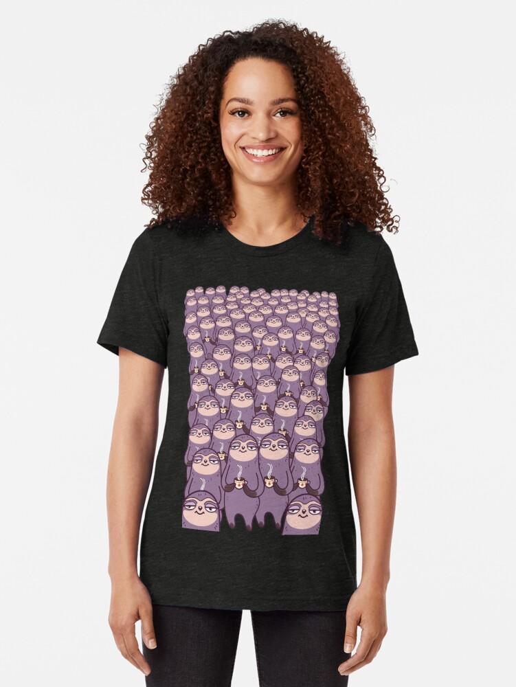 Alternate view of Sloth-tastic! Tri-blend T-Shirt