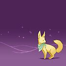 Neck Kerchief Fennec at Night by Janis Neville