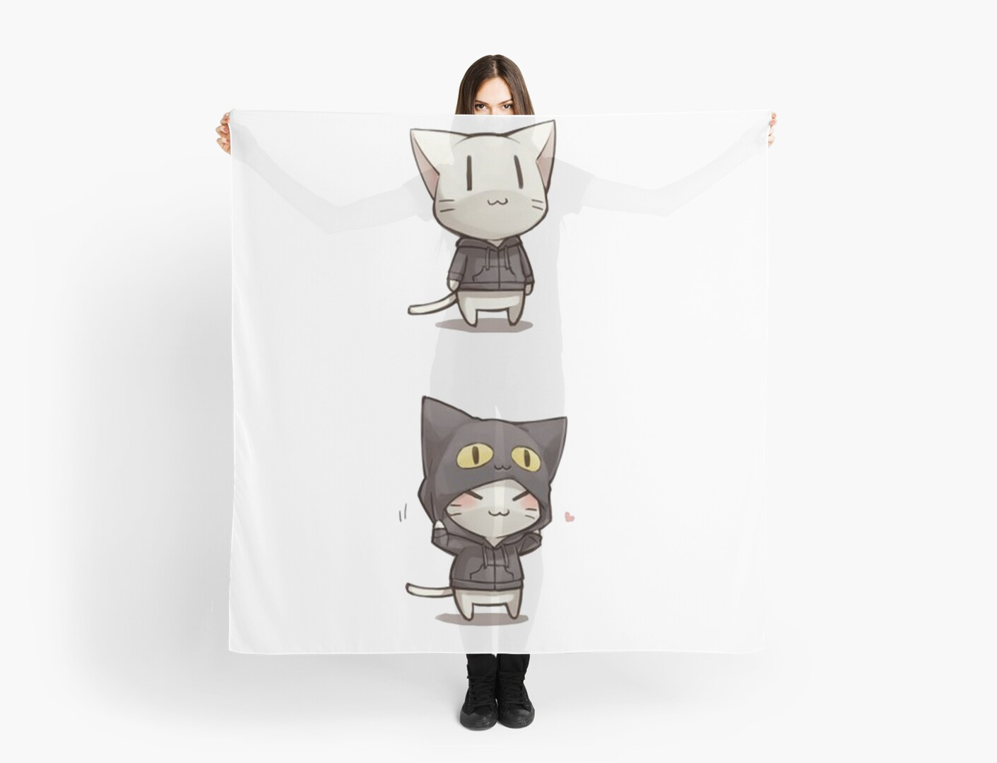 anime cat neko scarves by quentinr redbubble
