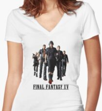 Final Fantasy XV Women's Fitted V-Neck T-Shirt