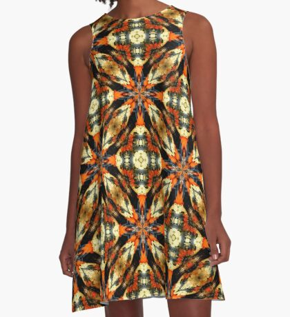 Colorful Gourds Abstract Design A-Line Dress