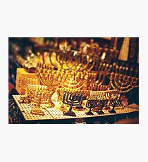 Menorah at the Jerusalem Old City Marketplace Photographic Print