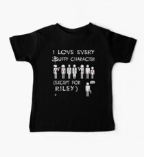 I love every Buffy character except for Riley Baby Tee