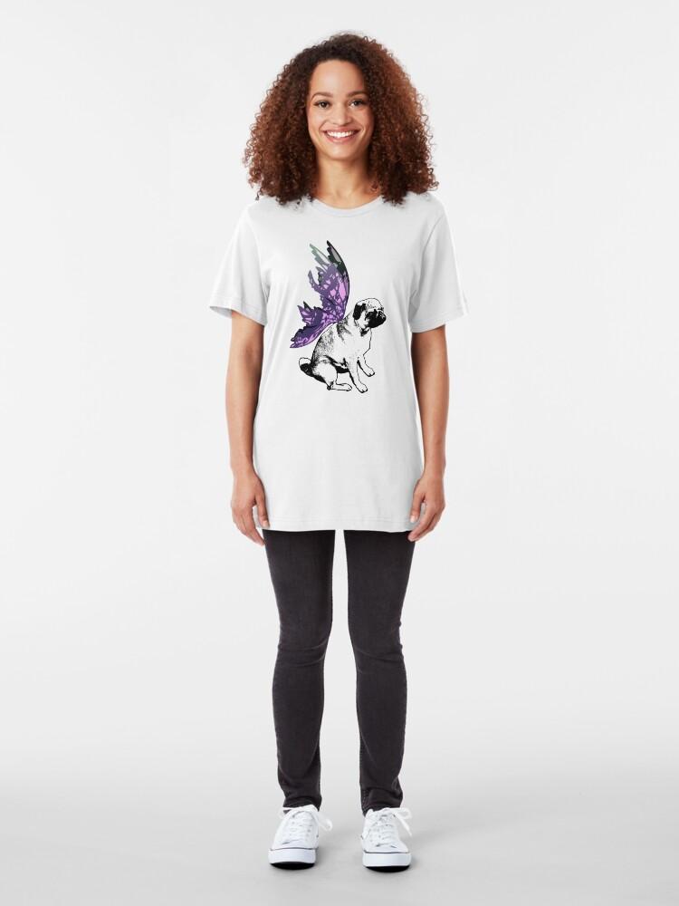 Alternate view of Pug Fairy Life Slim Fit T-Shirt