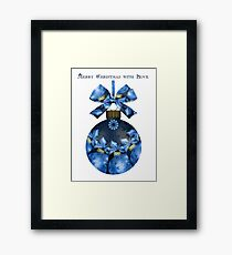 Merry Christmas with Love Framed Print