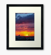 Epic Dramatic Sunset Sky Framed Print