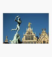 Belgian Architecture/Brawny Man - Travel Photography Photographic Print