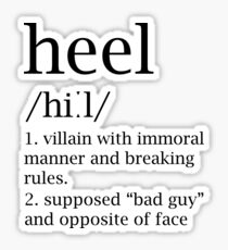 Heel definition Sticker