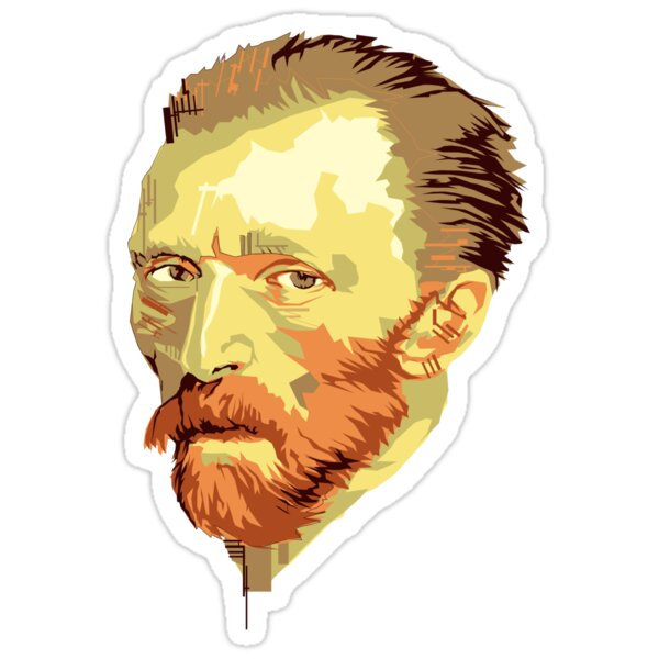 Quot Vincent Van Gogh Quot Stickers By Debbiedoesdogs Redbubble