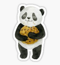 Panda with cookie Sticker