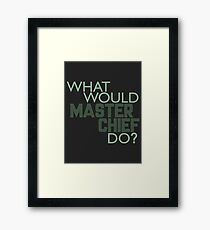 What Would Master Chief Do? Framed Print