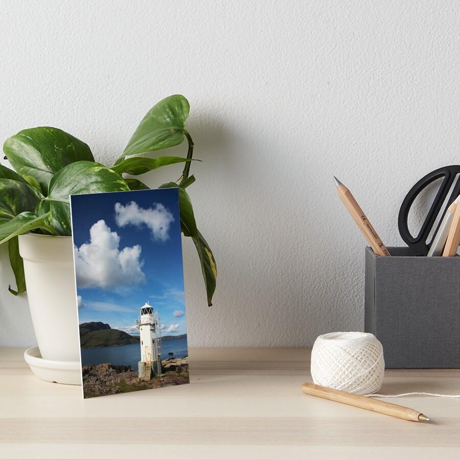 Rhue Lighthouse Art Board Print
