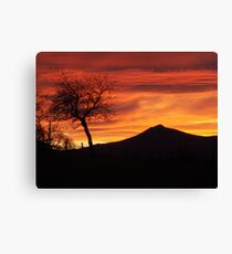 Bennachie sunset Canvas Print
