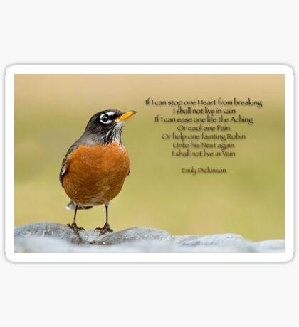 Emily Dickinson's Robin Sticker