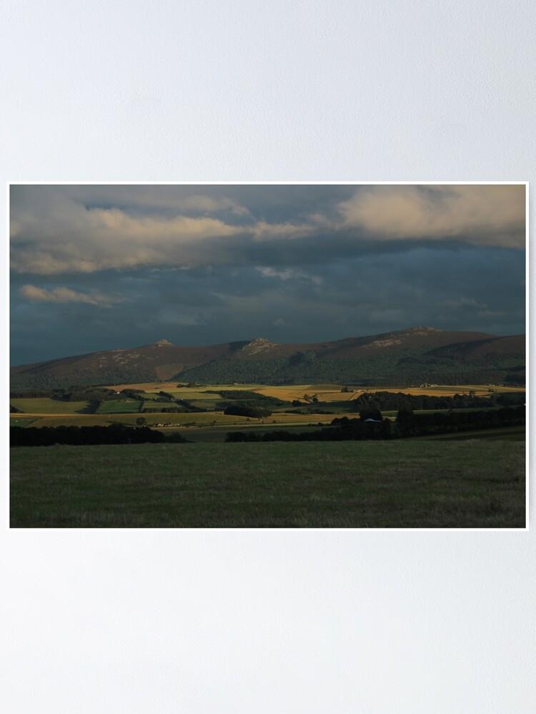 Alternate view of Bennachie view Poster