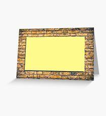 Brick wall with a billboard Greeting Card