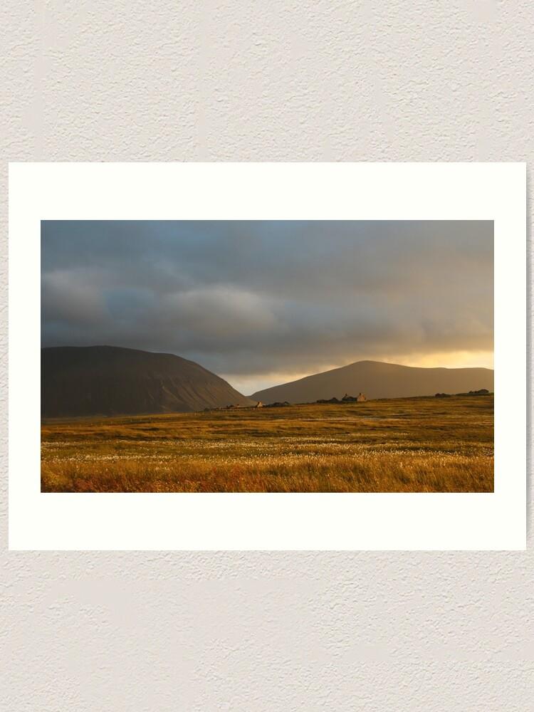 Alternate view of Evening light on Hoy and Graemsay Art Print