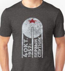 CCCP Sputnik 1 First Satellite - Silver Edition T-Shirt