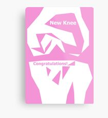Knee Replacement Operation Congratulations Card  in Pink by Jenny Meehan Metal Print