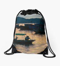 Cat Ba sunset Drawstring Bag