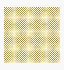 Spicy Mustard Polka Dots Photographic Print