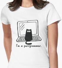 Camiseta entallada Soy un purrgrammer