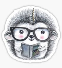 Uni Hedgehog Watercolor Sticker