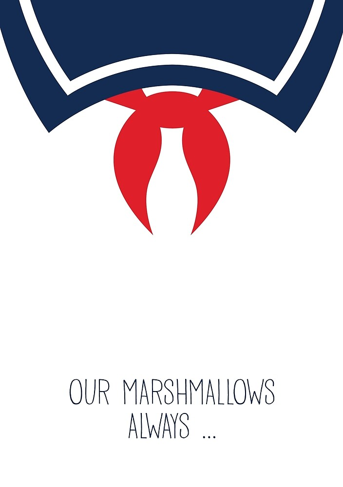 Ghostbusters Minimalist Series - Stay Puft Marshmallow Man by fabriqueposters
