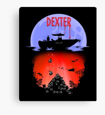 Dexter - Into the Bloody Depths Variant Canvas Print