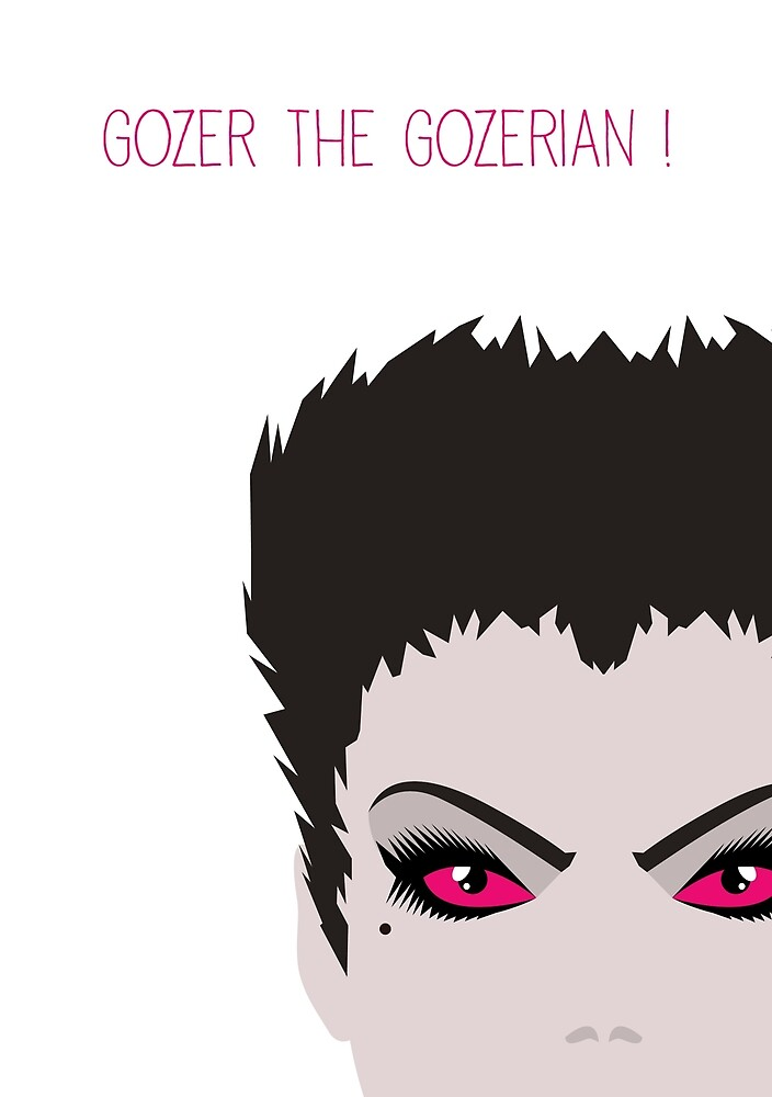 Ghostbusters Minimalist Series - Gozer by fabriqueposters