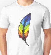 Rainbow Feather Unisex T-Shirt