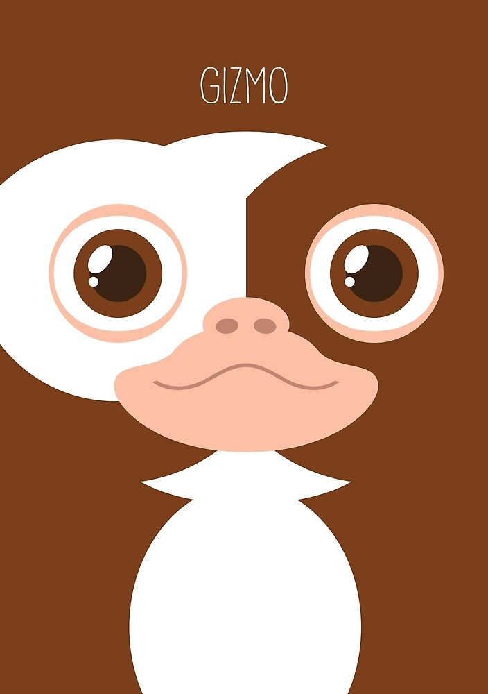 Gremlins Minimalist Series - Gizmo by fabriqueposters
