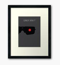 Terminator Minimalist Series - Terminator Framed Print