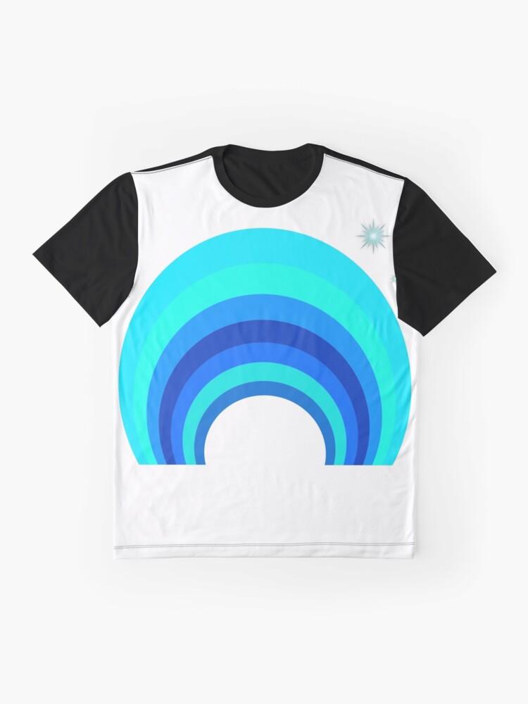 Alternative Ansicht von Blue Rainbow Grafik T-Shirt