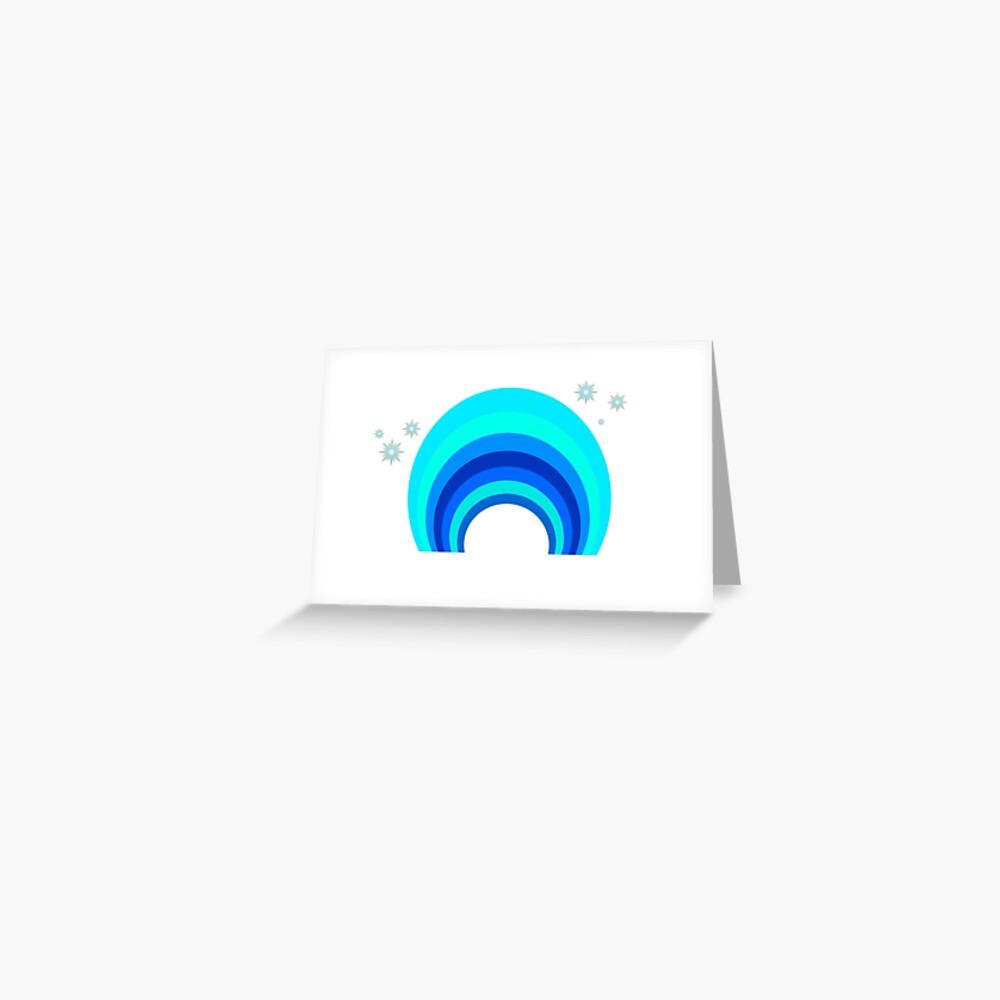 Blue Rainbow Grußkarte