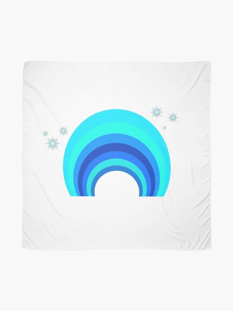 Alternative Ansicht von Blue Rainbow Tuch