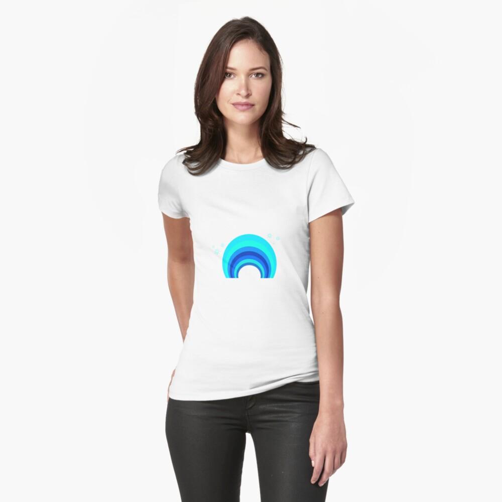 Blue Rainbow Tailliertes T-Shirt