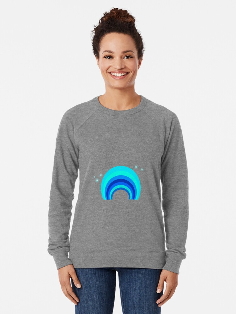 Alternative Ansicht von Blue Rainbow Leichter Pullover
