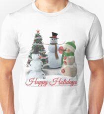 SnowPals Happy Holidays Unisex T-Shirt