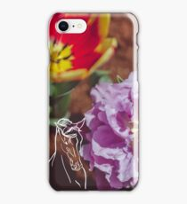 Tulips and Horse iPhone Case/Skin