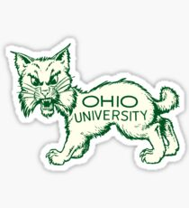 Ohio University Bobcat Vintage Buckeye State Sticker