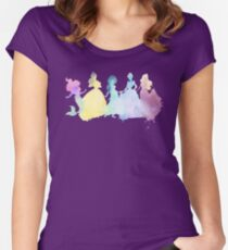 The Colors of the Princesses Women's Fitted Scoop T-Shirt