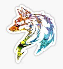 Trippy Tribal Wolf/Fox Sticker