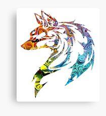 Trippy Tribal Wolf/Fox Canvas Print