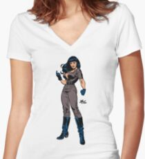 Faster Tura by Mitch O'Connell Women's Fitted V-Neck T-Shirt